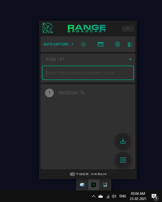 range broadcast auto capture pluggin